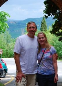Frank & Rhonda in Pienza, Tuscany