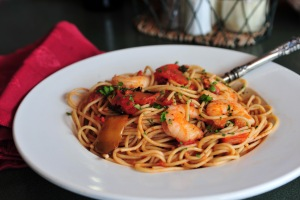 Pasta with Shrimp & Peppers
